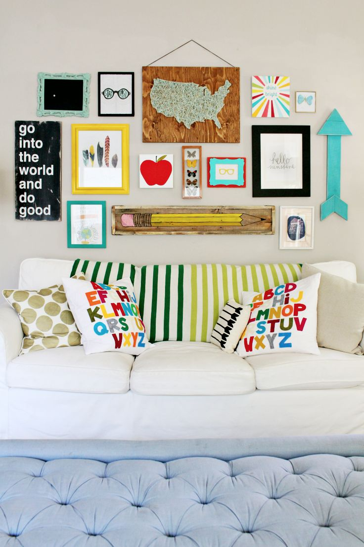 bold back to school gallery wall - Kids Room Wall Decor Ideas