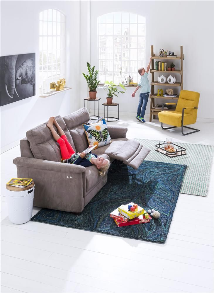 Zirano | Luxe comfortabele 2,6-zits in stof. #bank #relax #stof #elektrisch #verstelbaar