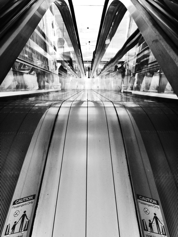 Vancouver Escalator.  iPhoneography with iPhone 5. trevor brucki