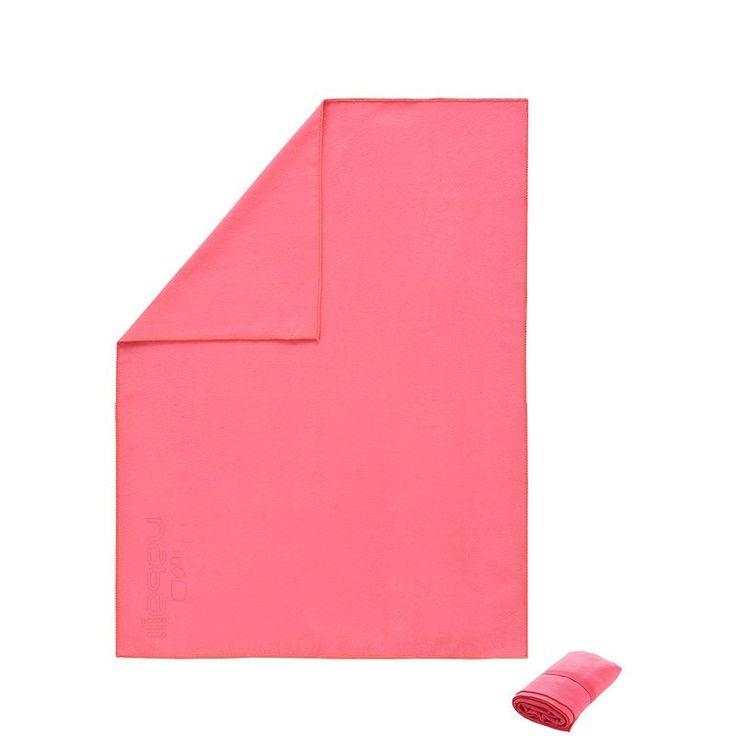 Toalla Microfibra rosa 65x90 cm - Decathlon