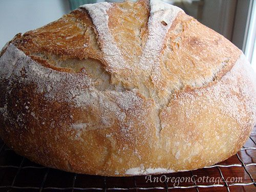 Easy Sourdough Artisan Bread - An Oregon Cottage | An Oregon Cottage