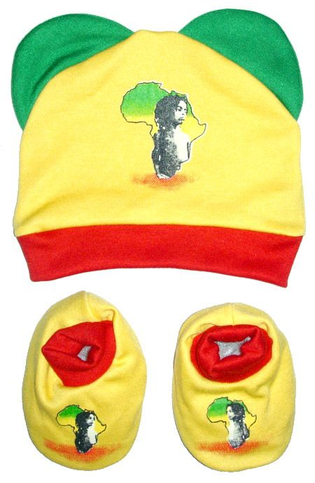 Shoes and hat set rasta baby