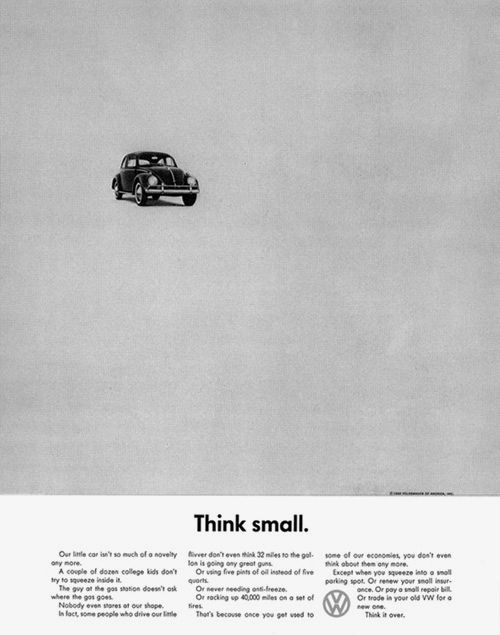 CLASSIC VOLKSWAGEN ADS. BY DOYLE DANE BERNBACH