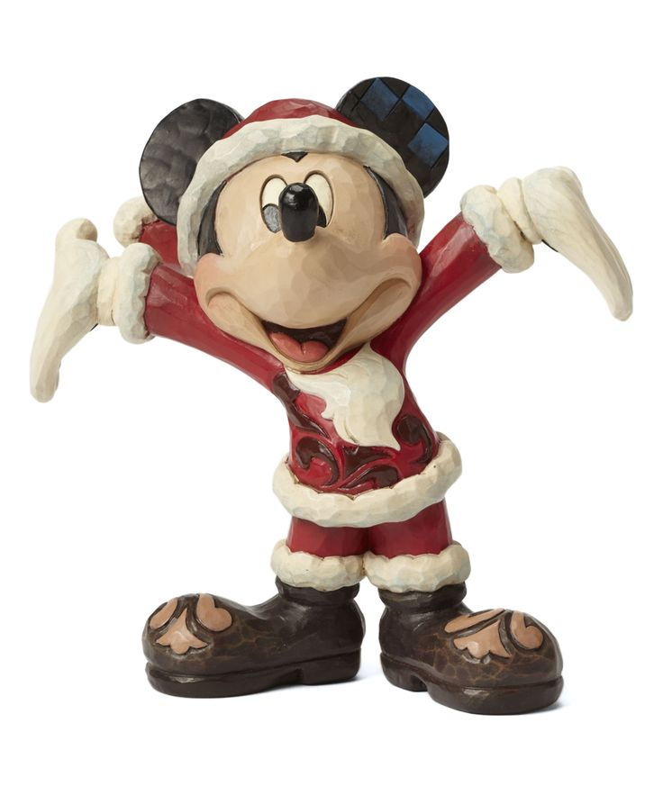 Santa Mickey Mouse Figurine