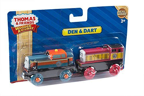 Another twin pair of character trains from the animated series that would be great to be a part of your kid's Thomas the train sets wooden car collection. This Fisher-Price toy features Den and Dart. They only have several short appearances in some of the episodes if Thomas the Tank series.