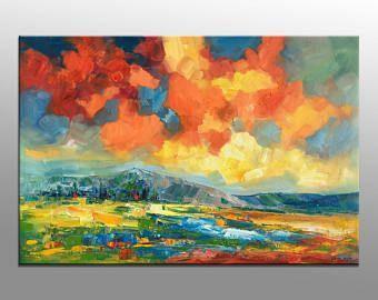 Pintura al óleo, pintura abstracta, arte de la lona, pintura moderna, pintura al óleo de grandes, obras de arte originales, cuadros modernos, abstractos, arte del campo