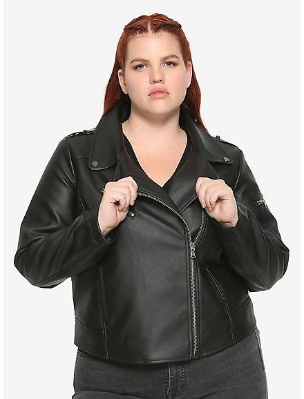 33d49e3c2fe56 Riverdale Southside Serpents Faux Leather Girls Jacket Plus Size Hot Topic  Exclusive