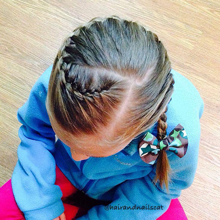 Angled French braid
