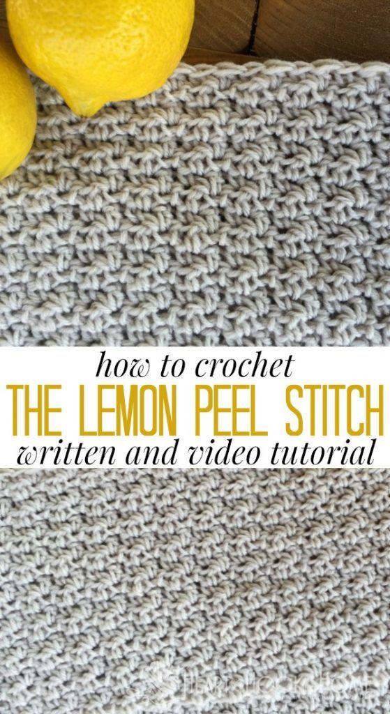 Fácil Crochet Stitch Tutorial: Como Crochetar O Ponto Da Casca De Limão