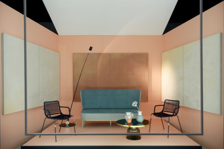 The living room is cured by Marco Andrea Magni and refurbished by Potocco.