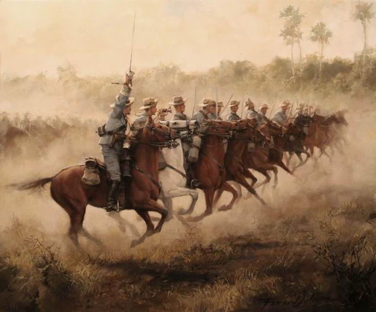 Ferrer-Dalmau, Carga de caballería en Cuba (1898)