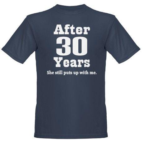 30th Anniversary Funny Quote Organic Mens T Shirt Dark