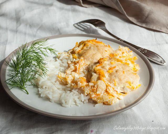 Кулинарный блог 365 дней: Куриные котлеты с морковной подливой в духовке