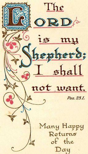 Psalm 23:1 KJV