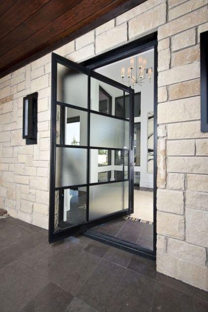 Door - glass & metal  (like this idea, but for a regular (interior) door instead)