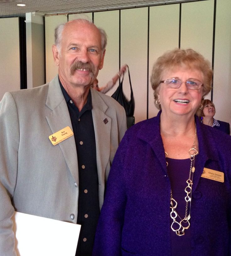 Dr. Raymond Young & Gloria Grenier at the Sister Cities Perpignan luncheon at the SaraBay Country Club November 4, 2013