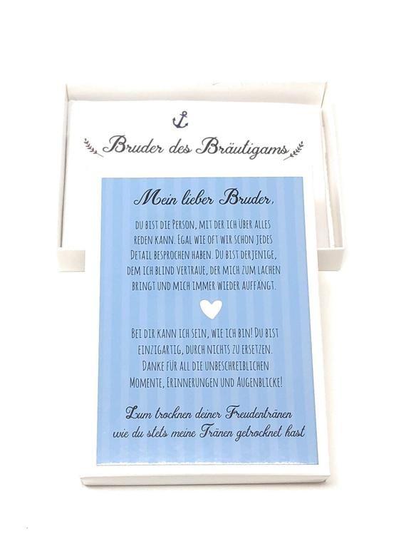 Hochzeit Geschenk Bruder Des Brautigams Taschentuch Fur Freudentranen Geschenk Trauzeuge Geschwister Hochzeitsgeschenk Gastgeschenk Book Cover Books Cover
