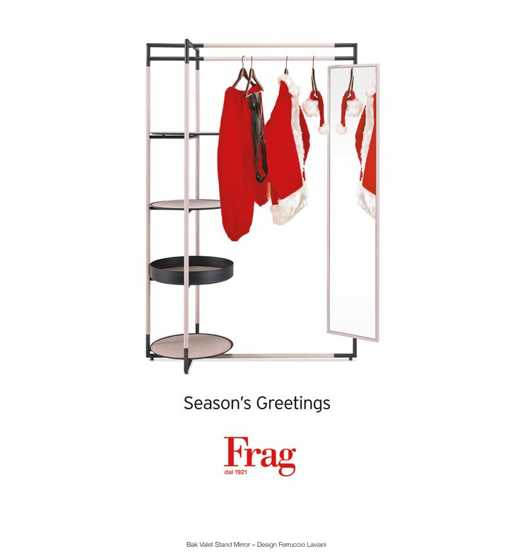 Merry Christmas and Happy New Year!  Bak Valet Stand Mirror – Design Ferruccio Laviani / www.frag.it