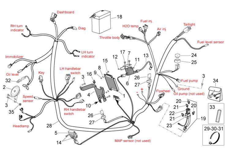 onderdelen aprilia sr 50 2t h2o ie carb  e2 2004 emea  nafta  electrical system i