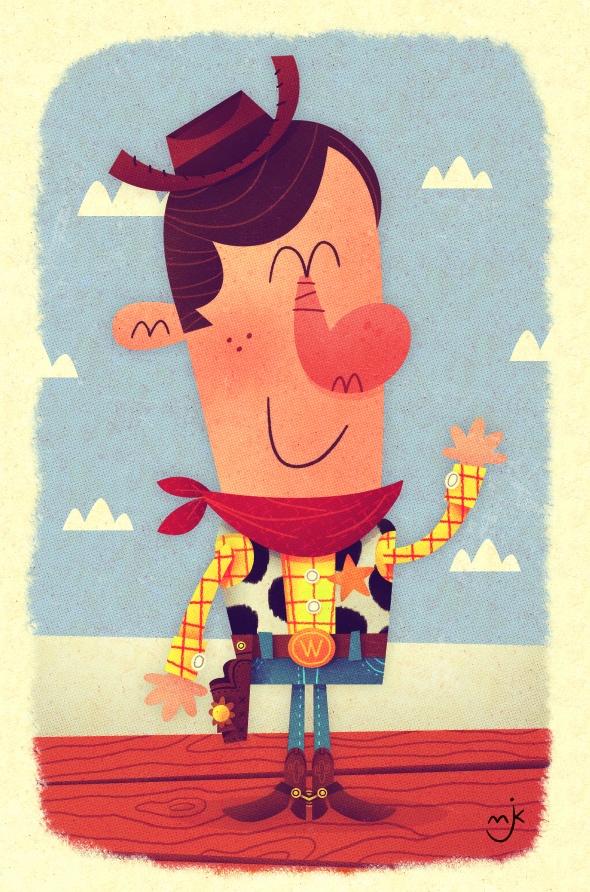 Sheriff Woody by Matt Kaufenberg -- I need to send this to Sara!