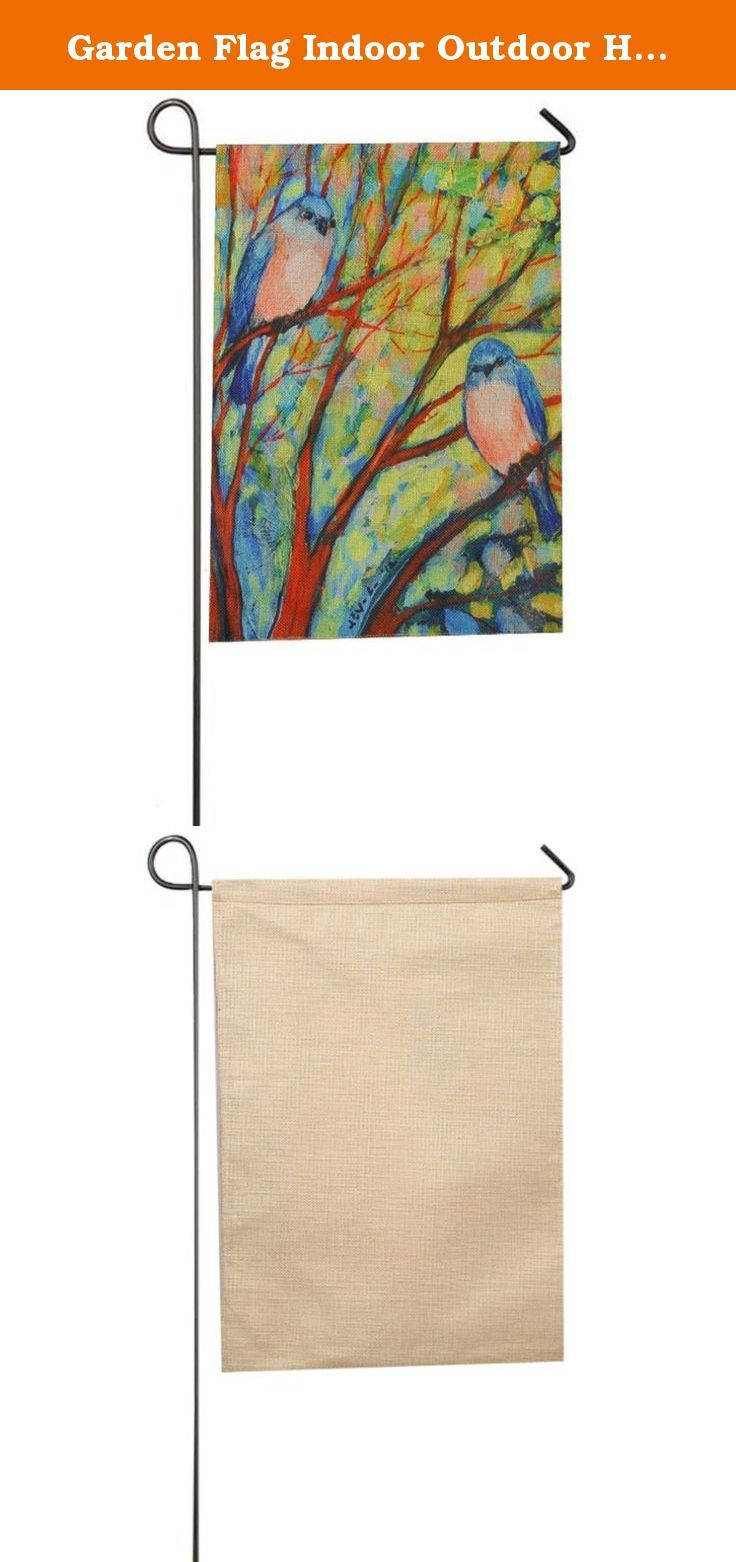 "Garden Flag Indoor Outdoor Home Decor Wensltd Birds Tree Flag (B). 100% brand new and high quality. Quantity:1PC Materials:Flax Made out of high quality burlap fabric Color:As Picture Show Approximate dimensions are 32*46cm/12.6*18"" Features a sleeve on top of flag for inserting a pole Wind, weather and fade resistant, suitable for both indoor or outdoor use Machine washable and dryer safe Note:The Metal stake is not included Package Content: 1PC Garden Flag."