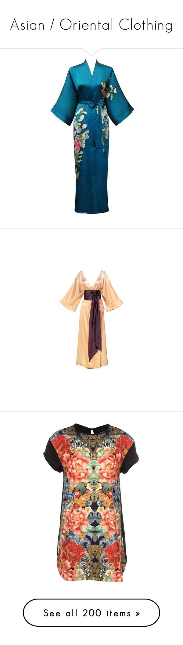 """""""Asian / Oriental Clothing"""" by jessy-james83 ❤ liked on Polyvore featuring dresses, kimono, gowns, robe, asian, asia, vestidos, silk kaftan, obi belt and silk caftan"""