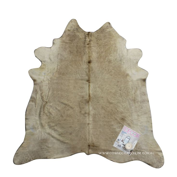 champagne natural cowhide rug