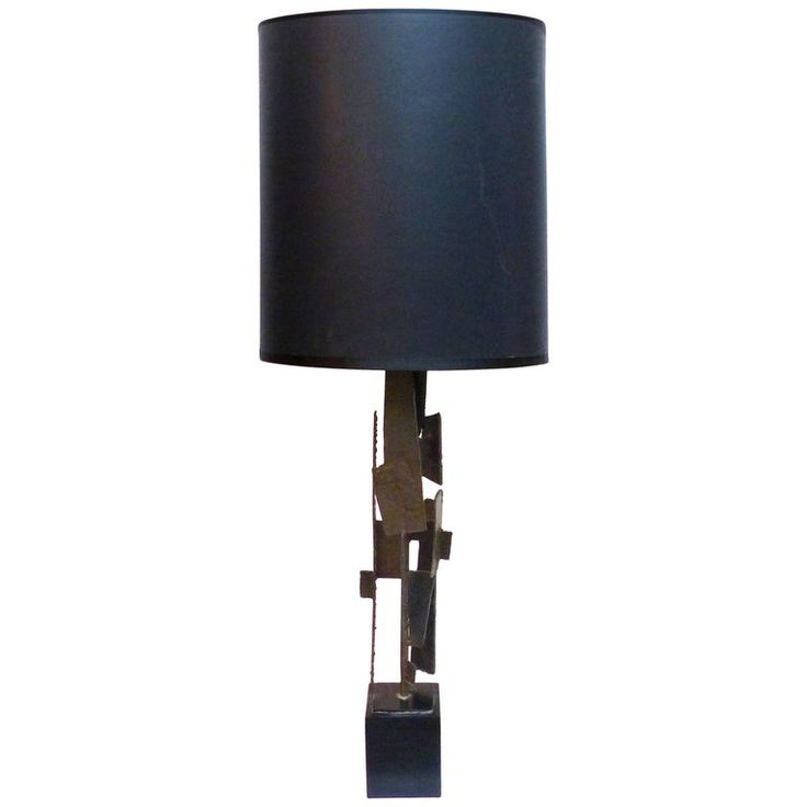 1960s Brutalist Torch Cut Tall Table Lamp By Harry Balmer For Laurel Lamps