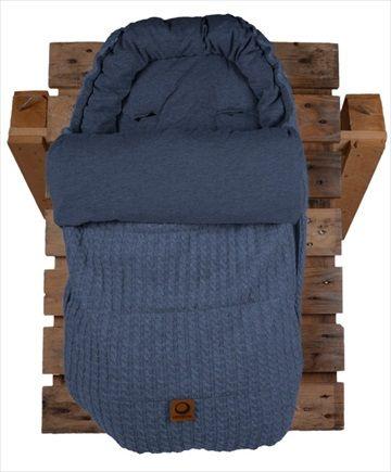 EASYGROW 'Grandma' Sovepose/Vognpose - Blue/Blå Melange. Nydelig 'retro' stil sovepose, denne 'Grandma' soveposen er laget av myk bambus og ull. Posen er beregnet på helårsbruk og har en avtagbar dundyne - den beste av begge verdener! Frifrakt Kr 2399