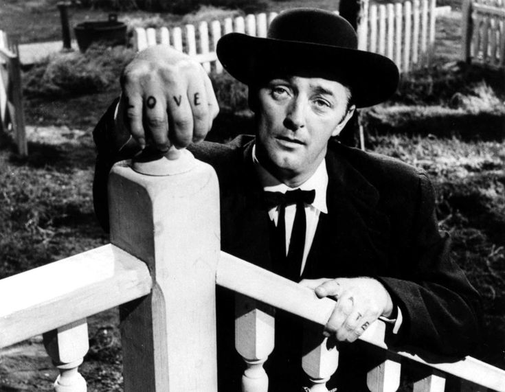 Robert Mitchum in THE NIGHT OF THE HUNTER (1955). Directed by Charles Laughton.