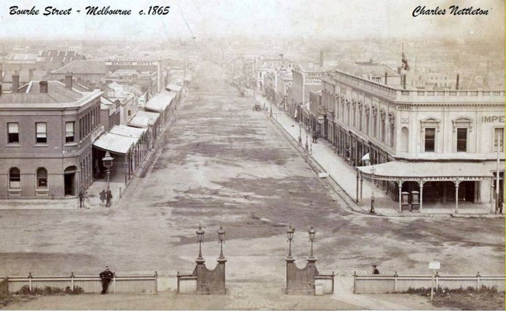 Bourke Street, Melbourne.  1865