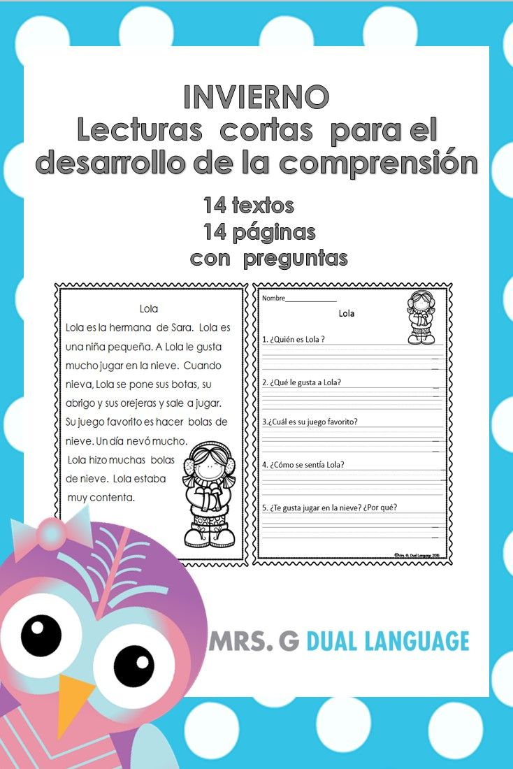 Winter Reading Comprehension Passages In Spanish Reading Comprehension Spanish Reading Comprehension Spanish Reading [ 1100 x 734 Pixel ]