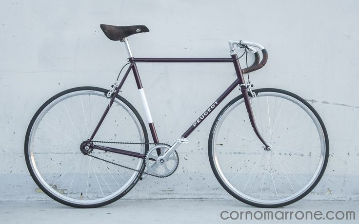 Prugna Marrone is a hand-built fixed gear bicycleequipped with front and…