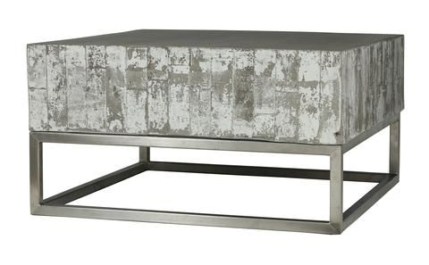 Constantine Concrete And Chrome Coffee Table