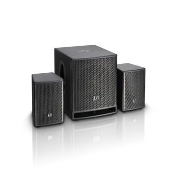 Deliver supreme audio experience with high power speakers and a subwoofer.