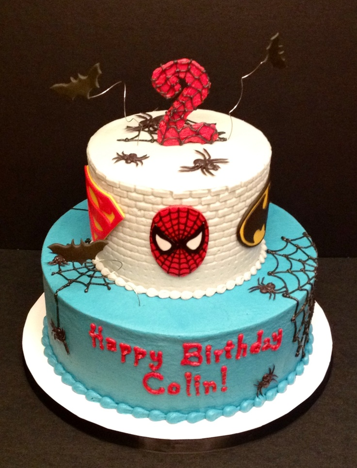 Spider-Man / Super Hero cake for a Halloween birthday