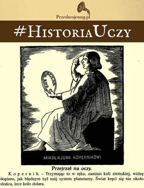 Przedwojenna karykatura Mikołaja Kopernika