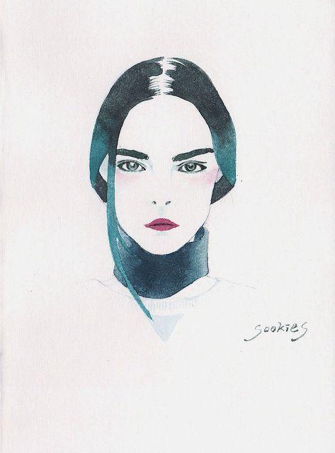 Cara Delevigne. illustration by Sookie Shen