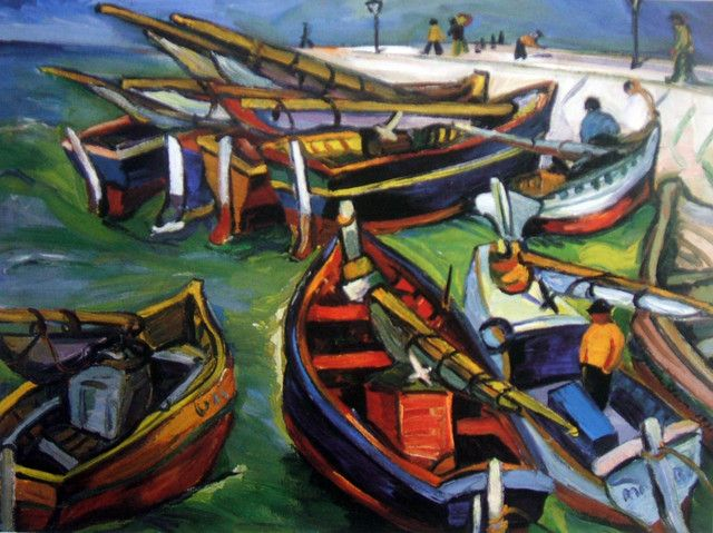 """Fishing Boats"".   Irma Stern.   1931"