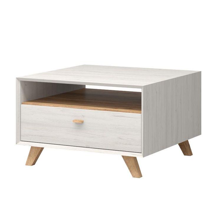 Couchtisch Calvi - Pinie Weiß Dekor / Eiche Navarra Dekor - Schräger Fuß, Norrwood Jetzt bestellen unter: https://moebel.ladendirekt.de/wohnzimmer/tische/couchtische/?uid=33630649-0363-551b-8518-99e6ead6a850&utm_source=pinterest&utm_medium=pin&utm_campaign=boards #möbel #norrwood #beistelltische #couch #wohnzimmer #couchtische #tische
