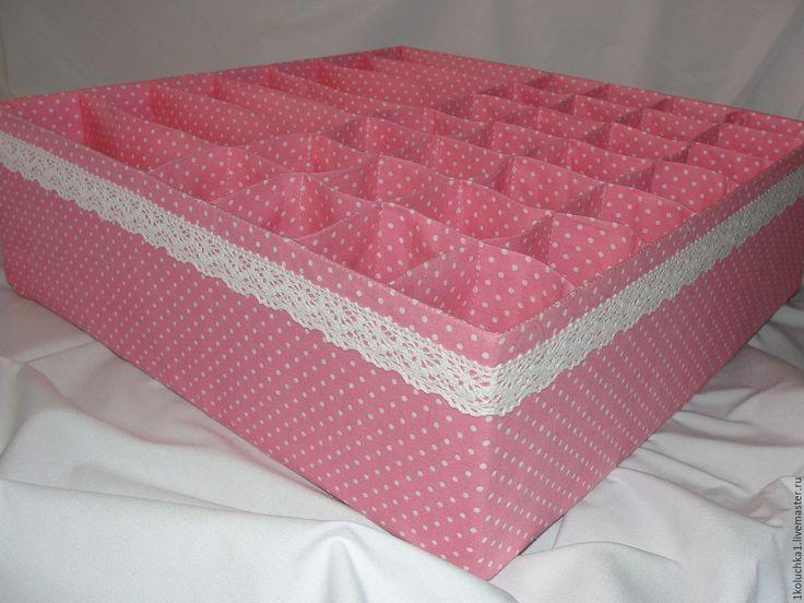 """Купить Универсальный органайзер для белья """"Розовый горошек"""" - органайзер, полезный подарок, органайзер для одежды"""
