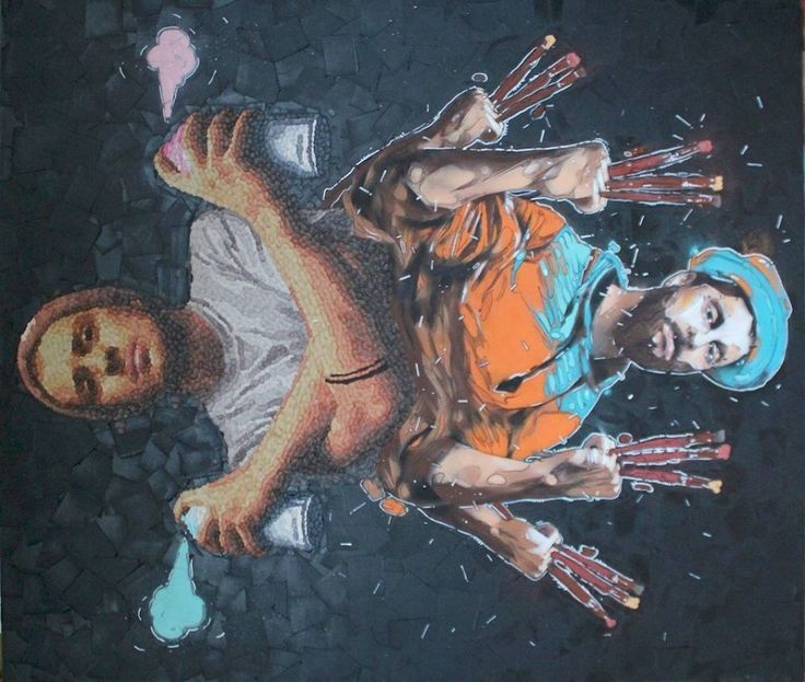 160cm*140cm 'sensing through my nose' 2014 oil on canvas and mixed technical