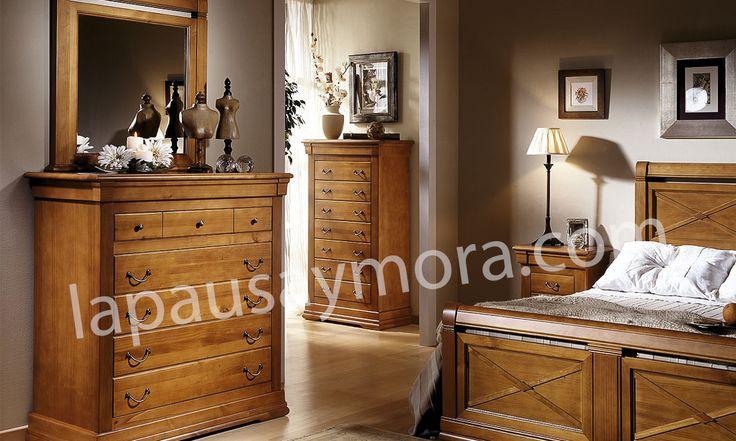 Mueble de dormitorio de Lapausa y Mora, colección Decoro. Composición 08 con acabado en Cerezo envejecido (29).