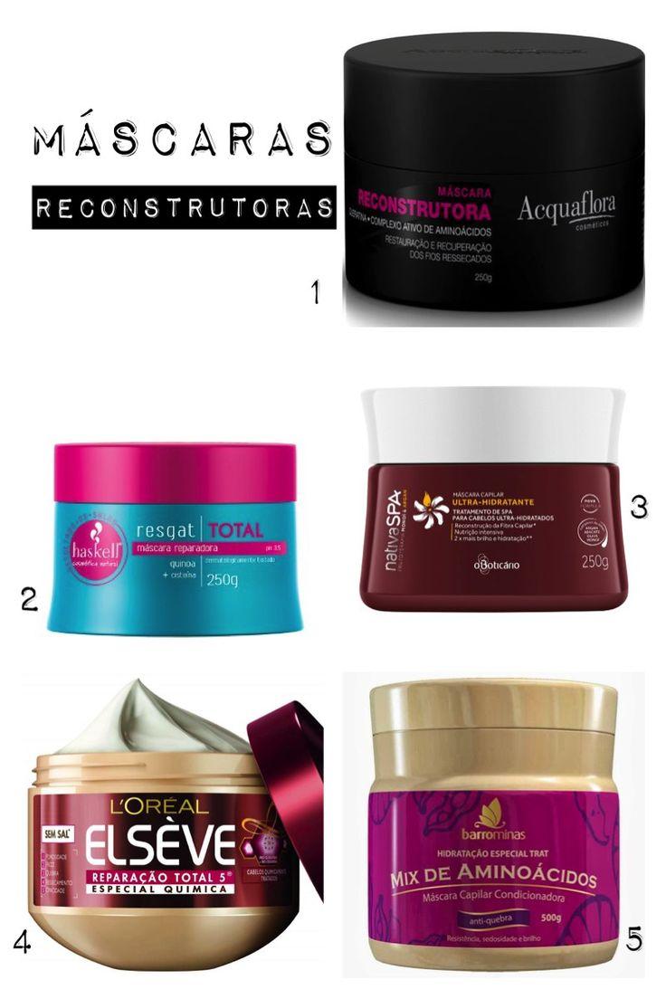 Cronograma Capilar: Produtos para a etapa de Reconstrução #cabelos #cuidados #blog