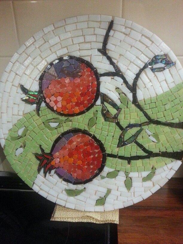 Pomegranate mosaic