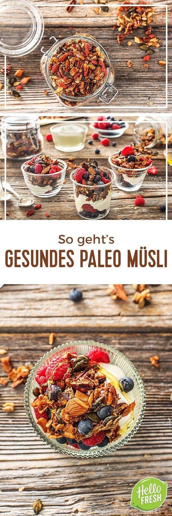 Step by Step Rezept: So einfach geht's: Paleo-Müsli selber machen  Kochen / Essen / Ernährung / Lecker / Kochbox / Zutaten / Gesund / Schnell / Frühling / Einfach / DIY / Küche / Gericht / Blog / Leicht  / Müsli / Paleo / Granola / Joghurt / Frühstück / Brunch / Superfood   #hellofreshde #kochen #essen #zubereiten #zutaten #diy #rezept #kochbox #ernährung #lecker #gesund #leicht #schnell #frühling #einfach #küche #gericht #trend #blog #paleo #müsli #granola #joghurt #frühstück #brunch…