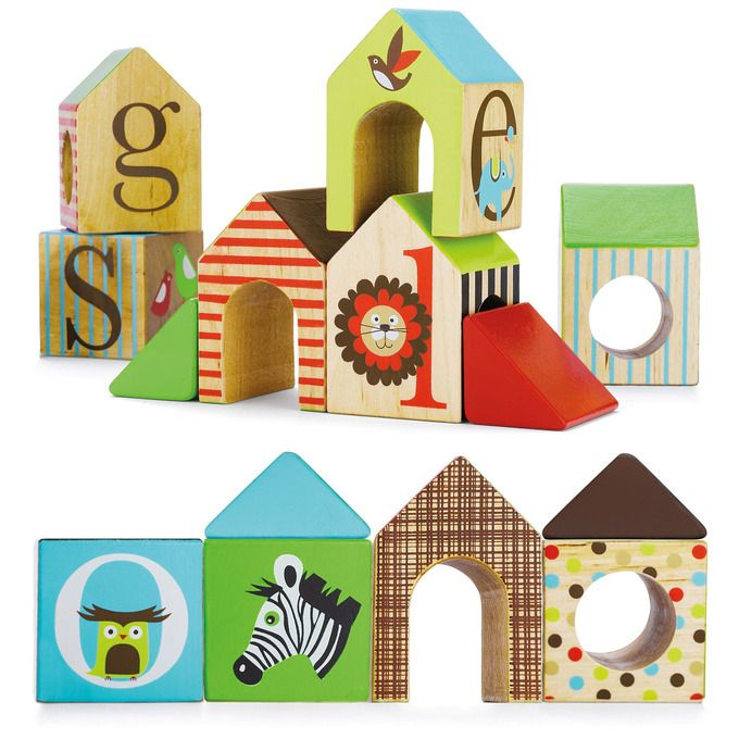 Alphabet Zoo ABC House Blocks