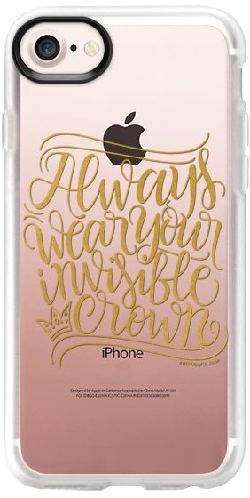 Casetify iPhone 7 Classic Grip Case - Invisible crown - Gold by HowjoyfulShop