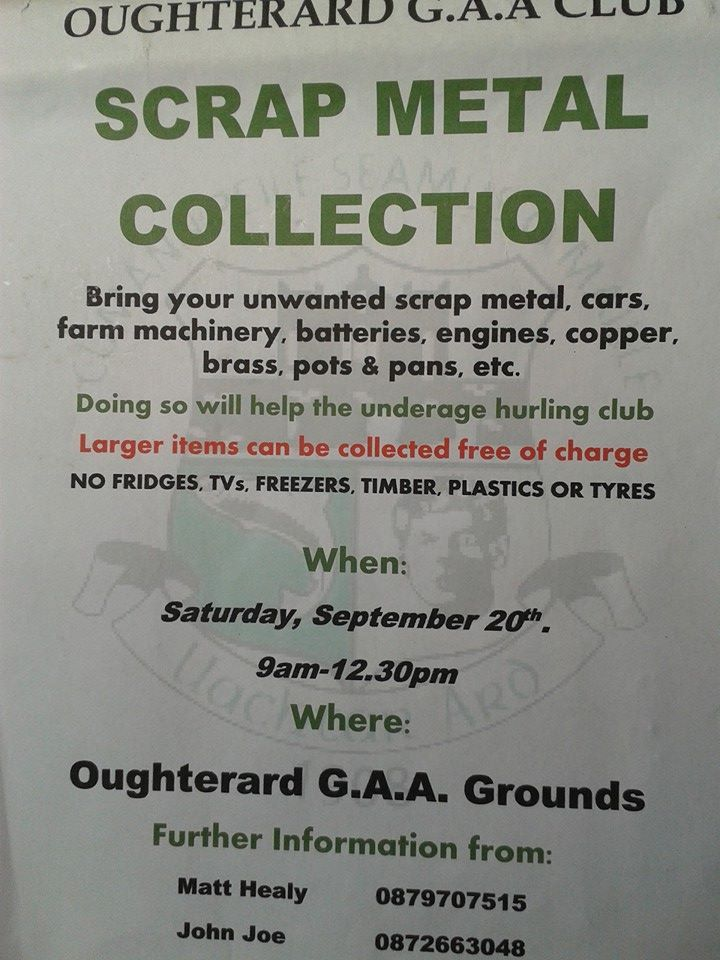 Oughterard, Galway locals... GAA Club Scrap Metal Collection