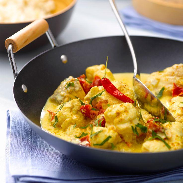 Découvrez la recette de la lotte au curry